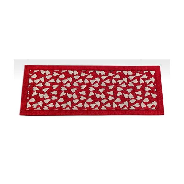 Červený vysoce odolný kuchyňský běhoun Webtappeti Corazon Rosso,55x140cm