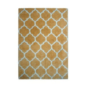 Žlutý koberec Smooth, 80x150cm