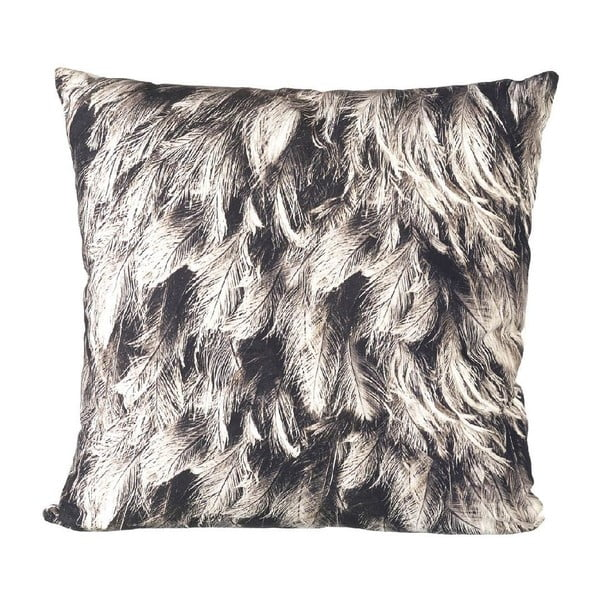 Polštář s výplní Feathers Grey, 45x45 cm