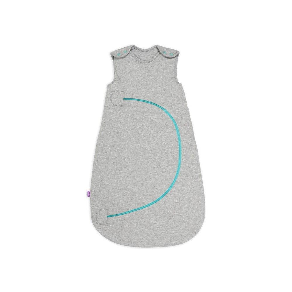 Šedý dětský spací pytel s modrým zipem Snüz SnuzPouch, stupeň hřejivosti 1
