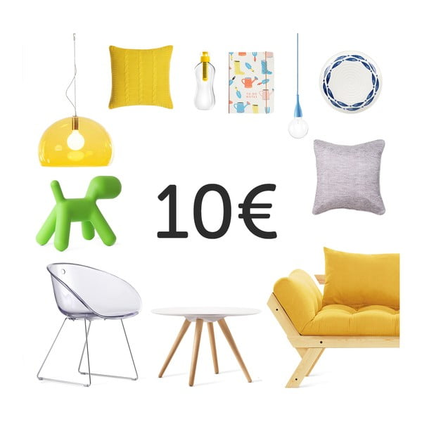 Elektronický darčekový poukaz na 10 €