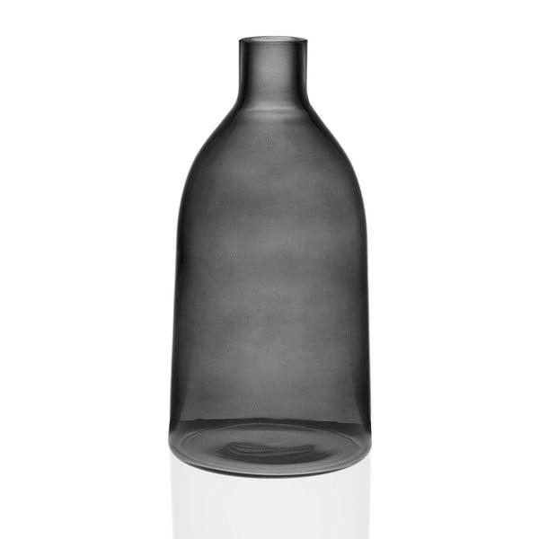 Prahna szürke üveg váza, magasság 29 cm - Versa