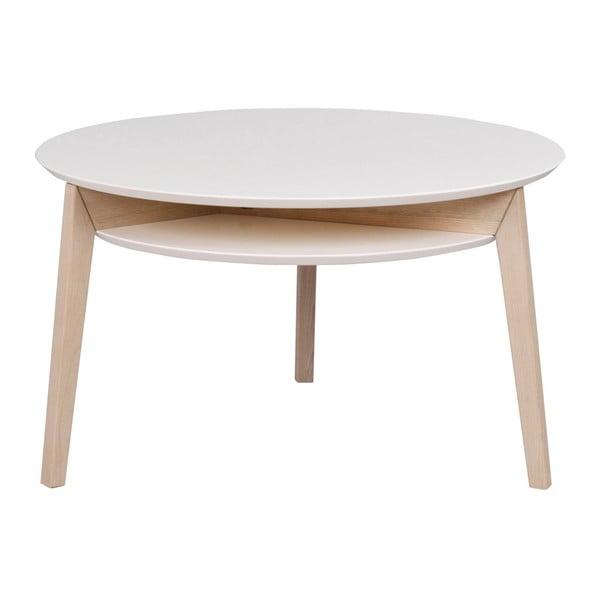 Konferenční stolek s konstrukcí z dubového dřeva Folke Rodeo, ⌀ 85 cm