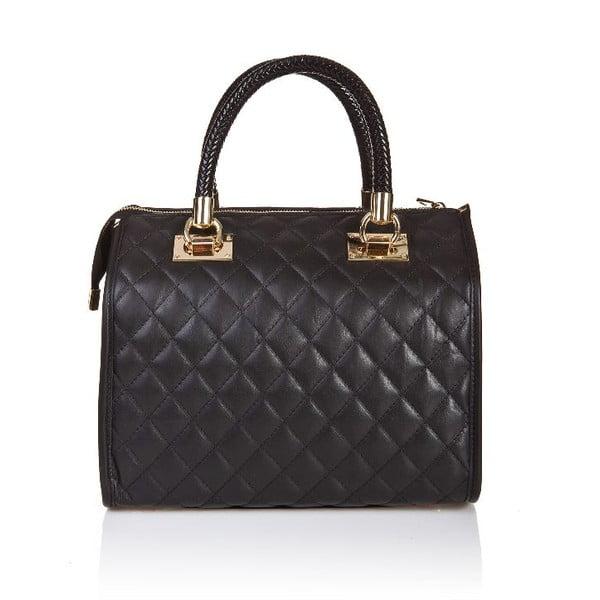 Černá kožená kabelka Giorgio Costa Elia