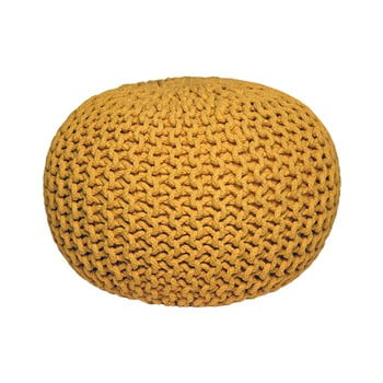 Pouf Tricotat Label51 Knitted, Galben