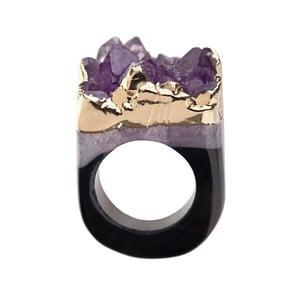 Prsten z ametystové drúzy Decadorn, vel. M