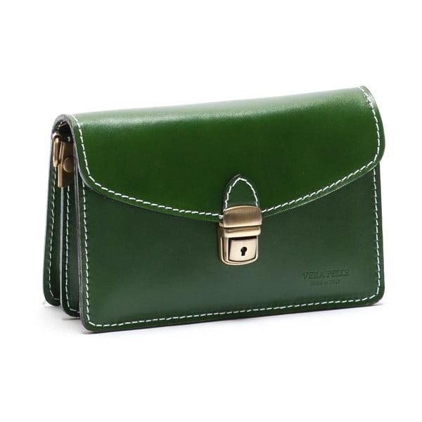 Zelená kožená kabelka Mangotti Lotus