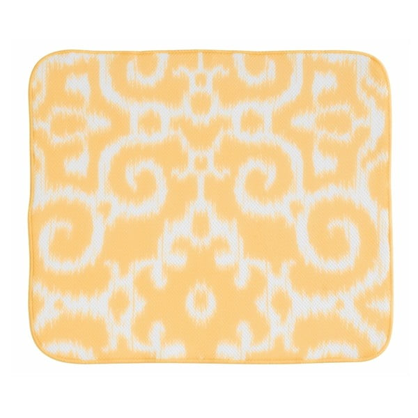 Žlutá odkapávací podložka InterDesign iDry, 46x41cm