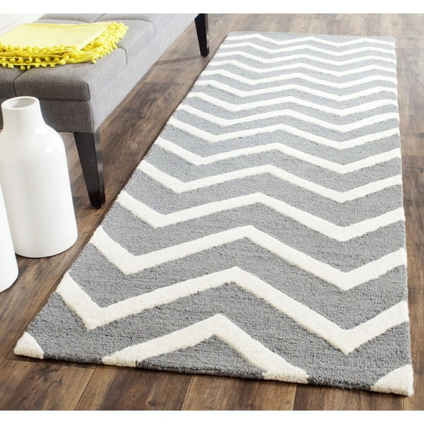 Vlněný koberec Edie Light Grey, 152x243 cm