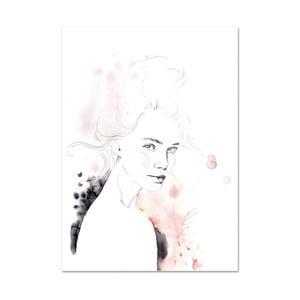 Plakát Leo La Douce Miss Louise, 21x29,7cm