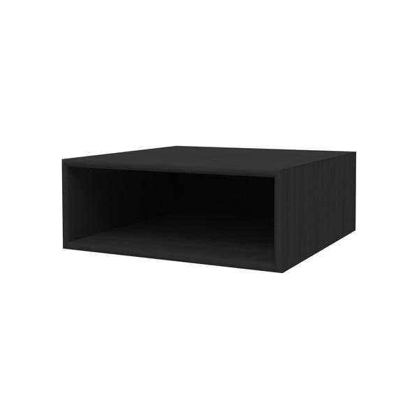 Černá nástěnná police WOOD AND VISION Choice, 39,7 x 15,1 x 38,4 cm