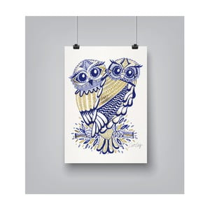 Poster Americanflat Inked Owls, 30 x 42 cm