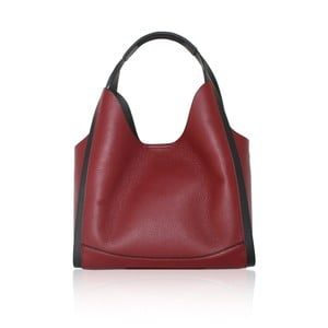 Tmavě červená kožená kabelka Maison Bag Giade