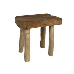 Stolička z teakového dřeva a dřeva mungur HSM Collection Aure