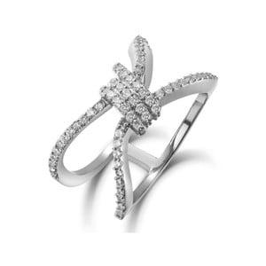 Prsten s bílými krystaly Swarovski Elements Crystals Wing, ø13mm