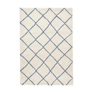 Bílý koberec Mint Rugs Grid, 80x150cm