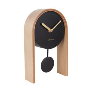 Stolní hodiny s březovým dřevem Karlsson Smart Pendulum Light