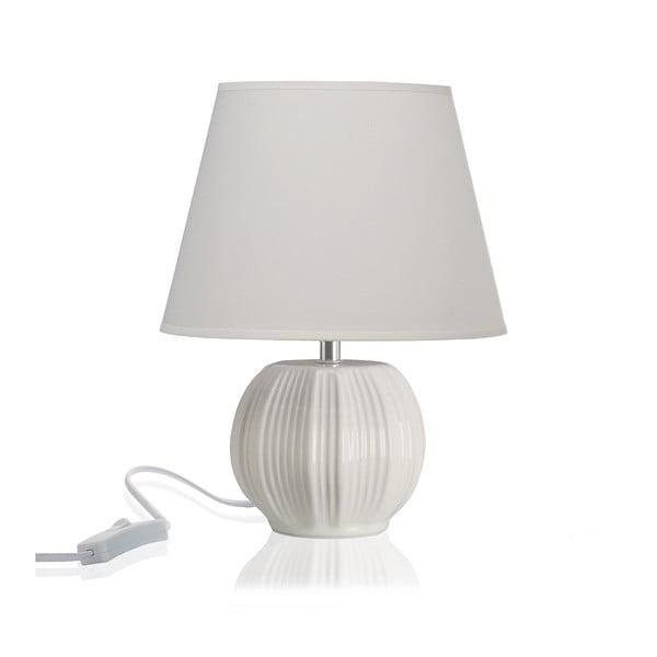 Bílá stolní keramická lampa Versa
