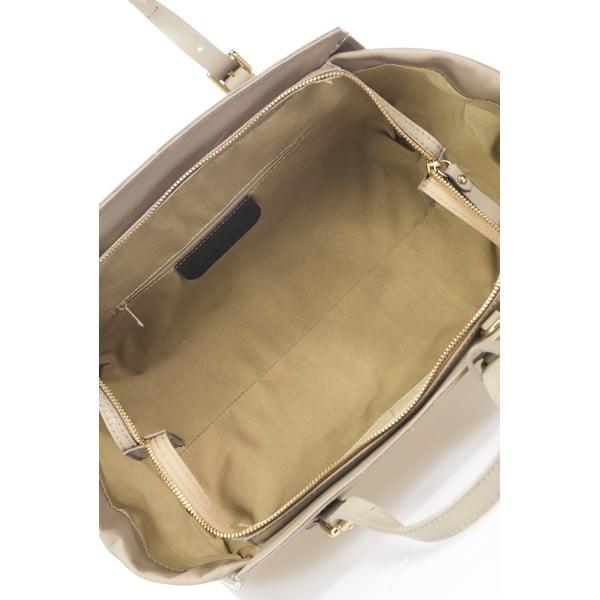 Kožená kabelka Bravisa, šedá