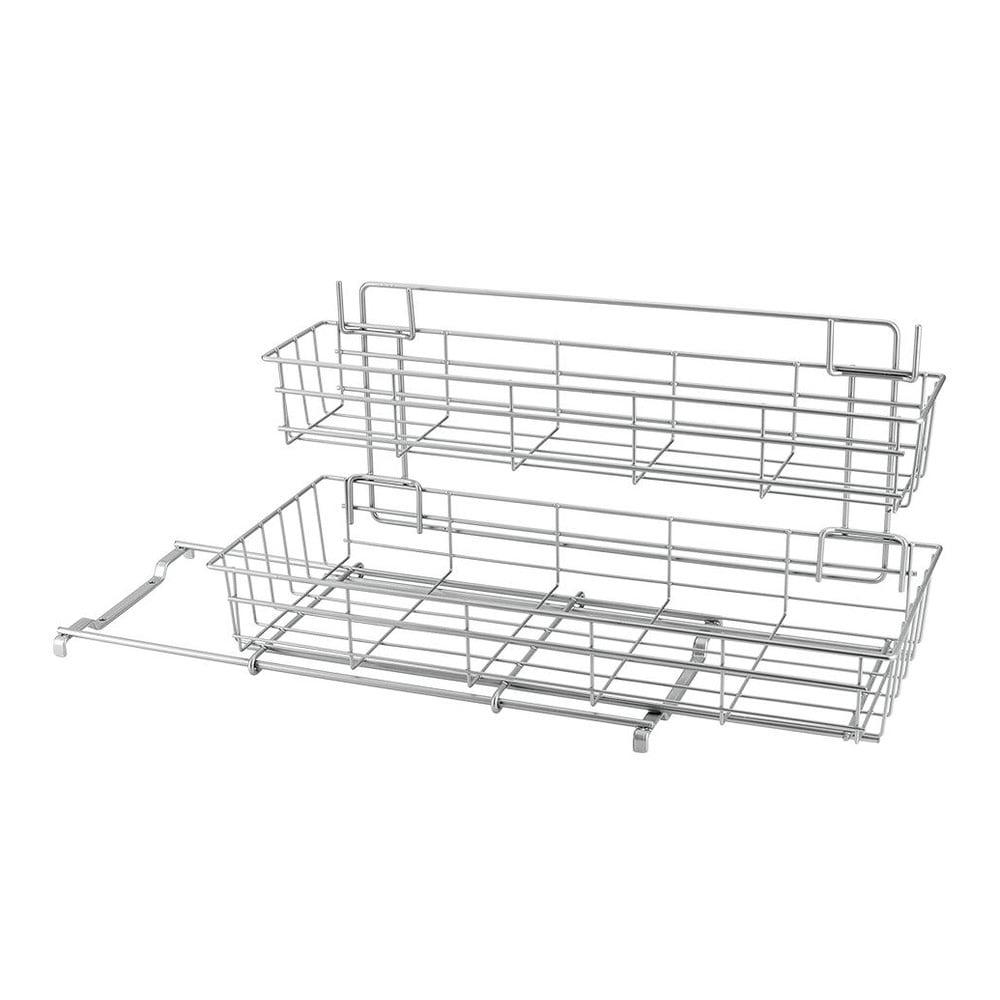 Přídavné dvoupatrové poličky do kuchyňské skříňky Metaltex Limpio