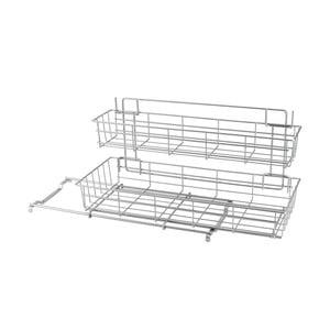 Přídavné dvoupatrové poličky do kuchyňské skřínky Metaltex Limpio