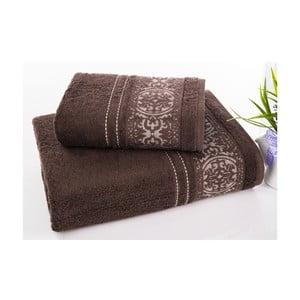 Sada 2 ručníků Ottoman Brown, 50x90 cm a 70x140 cm