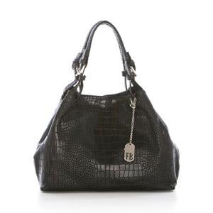 Černá kabelka z pravé kůže Federica Bassi Snake