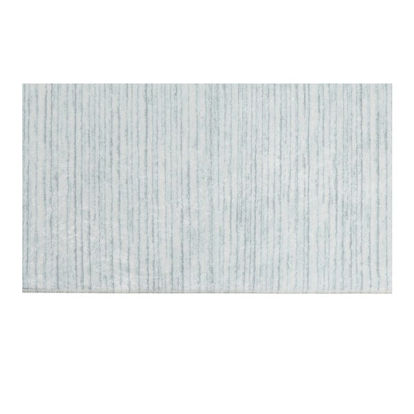 Sametový běhoun Deri Dijital Turquoise Malna, 80x300cm