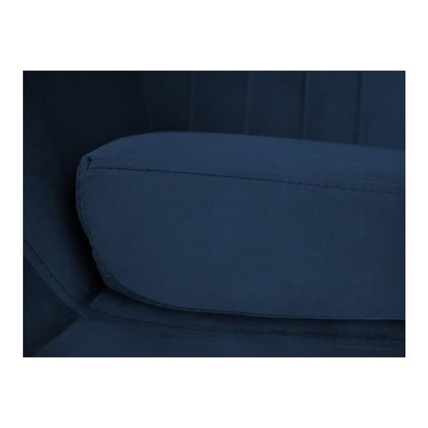 Tmavě modré křeslo Mazzini Sofas Benito