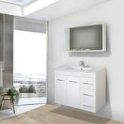 Koupelnová skříňka s umyvadlem a zrcadlem Byron, 80 cm
