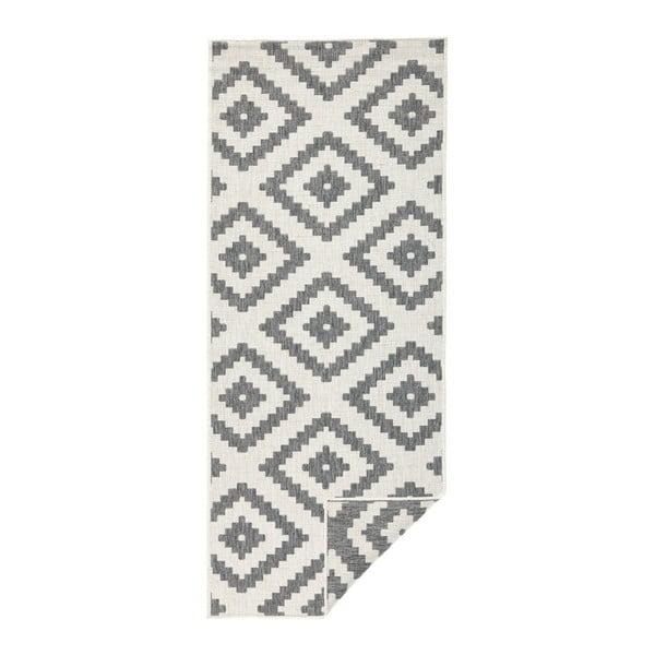 Sivý vzorovaný obojstranný koberec Bougari Malta, 80 x 150 cm