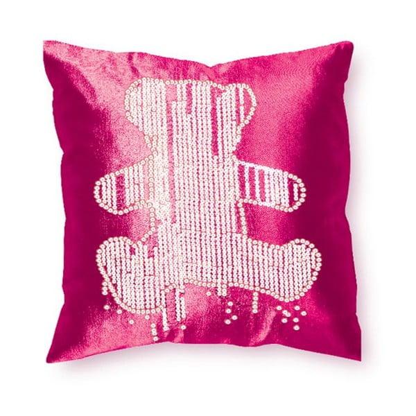 Povlak na polštář Teddy Pink, 40x40 cm
