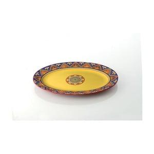 Barevný keramický talíř Brandani, 37 x 26 cm
