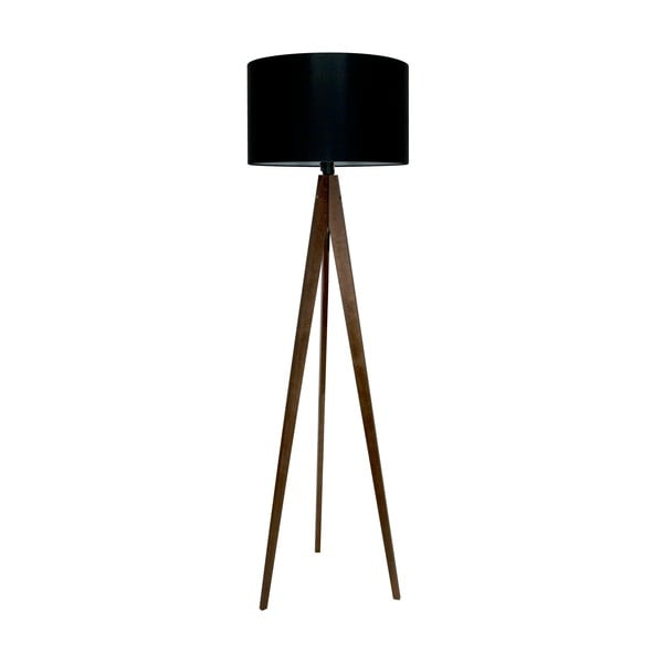 Stojací lampa Artist Black/Brown, 125x42 cm