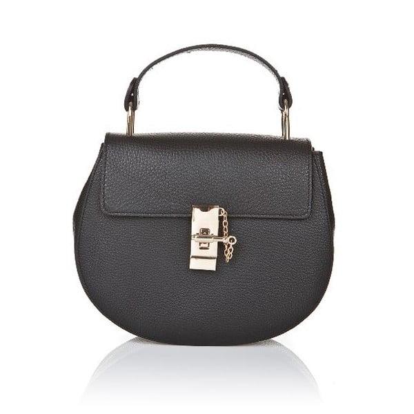 Černá kožená kabelka Giorgio Costa Ravenna