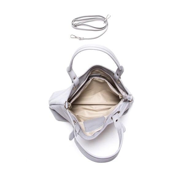 Kožená kabelka Luisa Vanini 1103, šedá