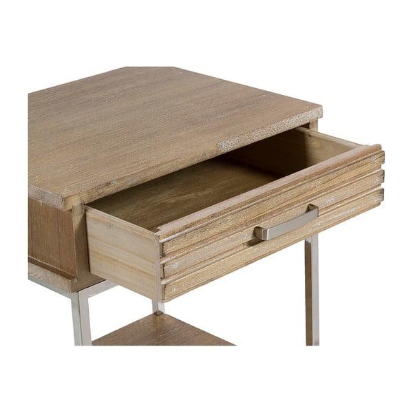 Masă cu rafturi și sertar din lemn de tec Santiago Pons Parma