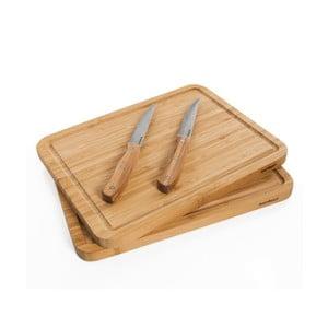 Sada 2 krájecích prkének a nožů Bambum Talau