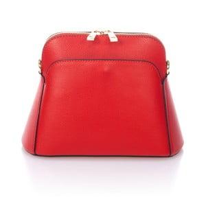 Červená kožená kabelka Giulia Massari Tuda