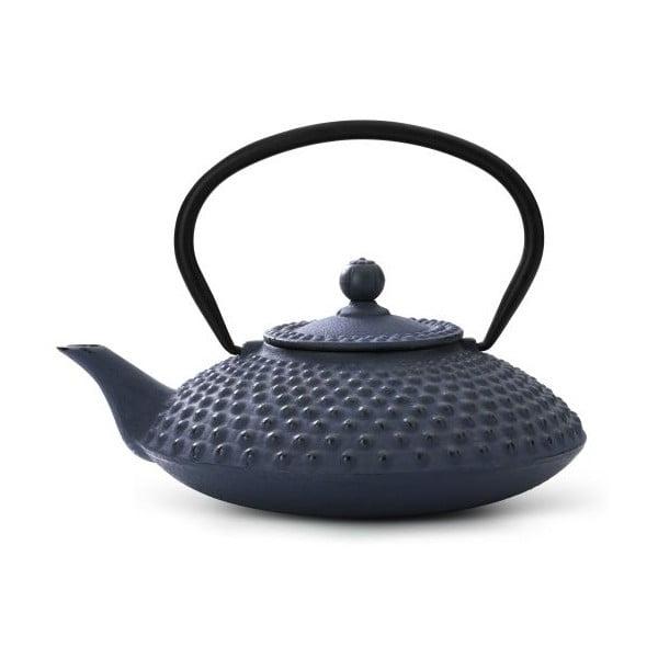 Ceainic din fontă cu infuzor Bredemeijer Xilin, 1,25 litri, albastru