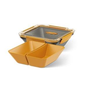 Box na jídlo Rectangular Black/Orange, 0,9 l