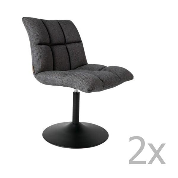 Bar 2 részes sötétszürke fotel szett - Dutchbone