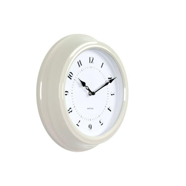 Ceas de perete Karlsson Fifties, diametru 30 cm, crem