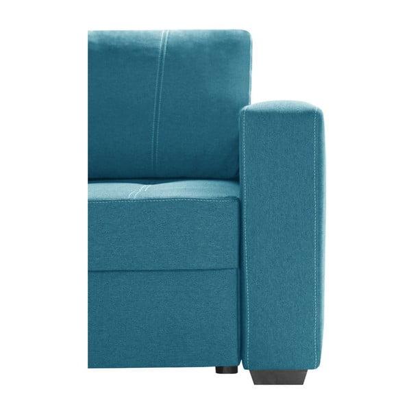 Světlá tyrkysová sedačka Interieur De Famille Paris Succes, levý roh
