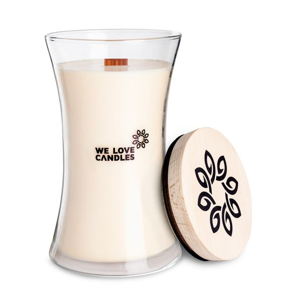 Świeczka z wosku sojowego We Love Candles Ivory Cotton, 301 h