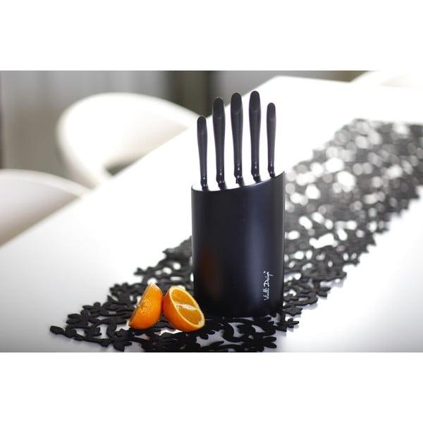 Černý stojan s pěti noži Vialli Design