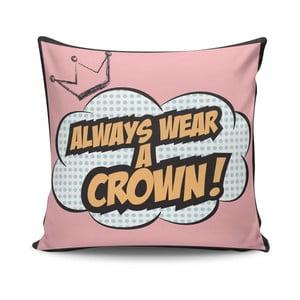 Polštář s výplní Crown, 45x45cm