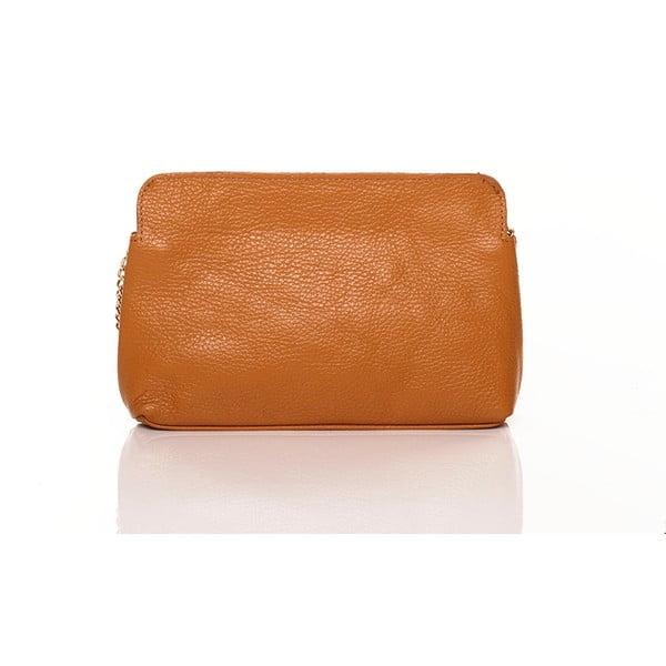 Kožená kabelka Federica Bassi Envelope Cuoio