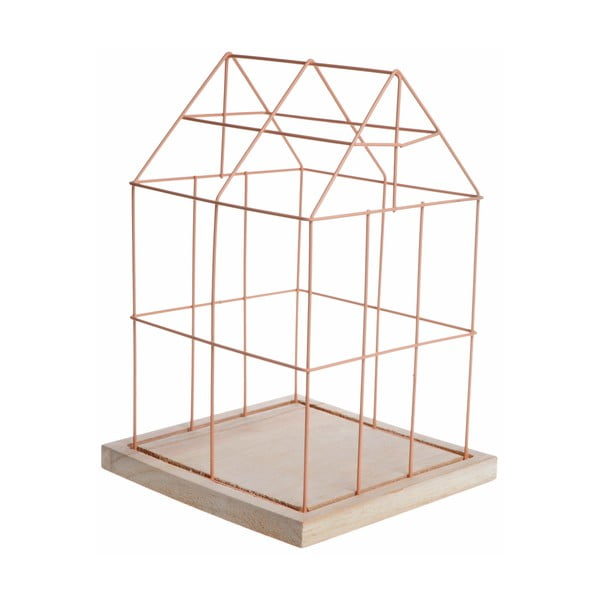 Růžová dekorativní klec Ewax Bird Cage
