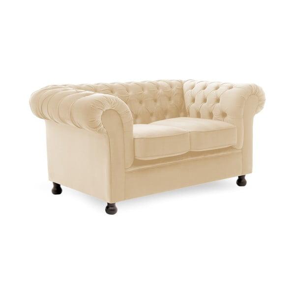 Canapea 2 locuri Vivonita Chesterfield, gri deschis